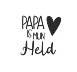Strijkapplicatie | papa is mijn held