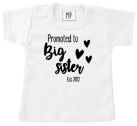Zwangerschap aankondiging T-Shirt   Ik word grote zus 2022