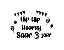 Raamsticker | Hip hip hooray