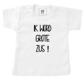 Zwangerschap aankondiging T-Shirt   Ik word grote zus