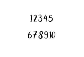 Strijkapplicatie | Cijfer | sierlijk