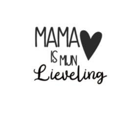 Strijkapplicatie | mama is mijn lieveling