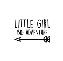 little girl big adventure pijl
