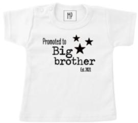 Zwangerschap aankondiging T-Shirt   Ik word grote broer 2021