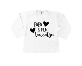 Strijkapplicatie | Valentijn | Papa is mijn valentijn