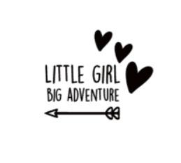 Raamsticker | Little girl big adventure pijl