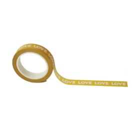Washi tape  -  Yellow love