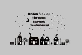 Raamsticker |  Basis set inclusief Welkom Sint vergeet ons huisje niet