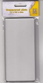"Nellie choice TPT002 Transparent plate ""Tauros-mini""165x78x5mm"