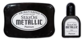 Stazon inktpad set  Metallic Platinum SZ-000-195