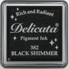 Delicata Small Black shimmer DE-000-382