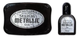 Stazon inktPad set  Metallic Silver SZ-000-192