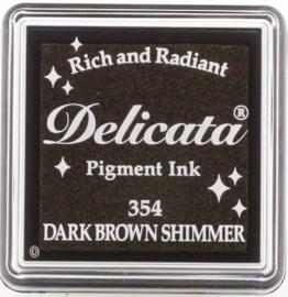 Delicata Small Dark Brown Shimmer DE-000-354
