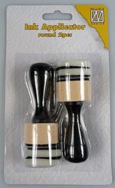 Nellie choice IAP003 Ink applicator rond 2 pcs. + 4 foam kussentjes