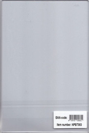 Nellie choice NPBT003 Original transparant plate A4 for PressBoy
