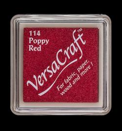 VK-SML-114 Versacraft inkpad small Poppy Red