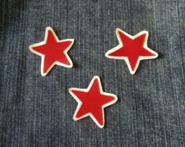 DIY leren patch STAR ROODWIT