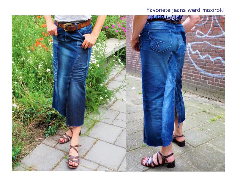 Jeans wordt maxirok