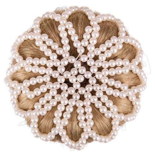EquiHair Pearl knotnet wit