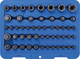 Set bits en steeksleutels | E-profiel / T-profiel (voor Torx) / T-profiel (voor Torx) met gat / TP-profiel (voor Torx Plus) | 52 stuks