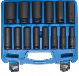 "Slagmoerdopsleutelset, zeskant | Binnenvierkant aandrijving 12,5 mm (1/2 "") | SW 10-32 mm | 14 st."