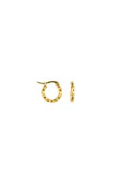 Golden vintage winding hoops