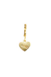 Golden love heart