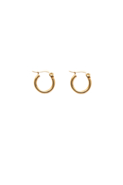 Golden basic hoops (15mm)