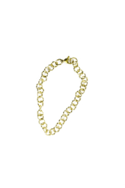 Golden round chain twisted bracelet