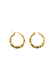 Golden fancy hoops