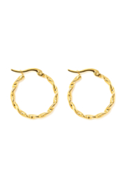 Golden twisted hoops (30mm)