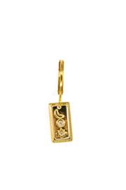 Golden moon star pendant