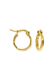 Golden little twisted hoops (15mm)