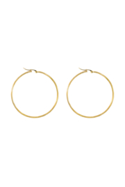 Golden basic hoops (40mm)