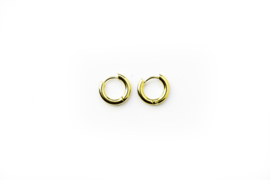 Golden basic hoops (10mm)