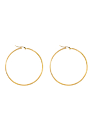 Golden basic hoops (50mm)
