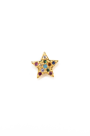 Golden bling color star stud