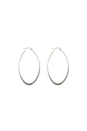 Silver oval hoops