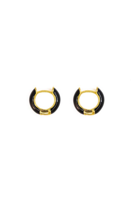 Golden black hoops