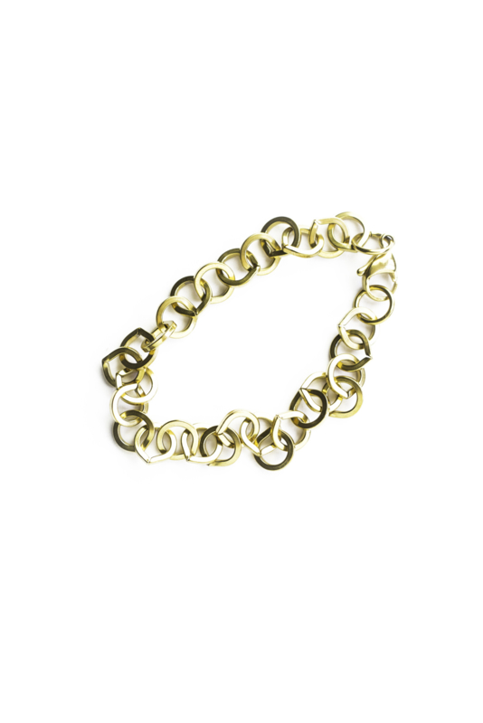Golden round chain small bracelet