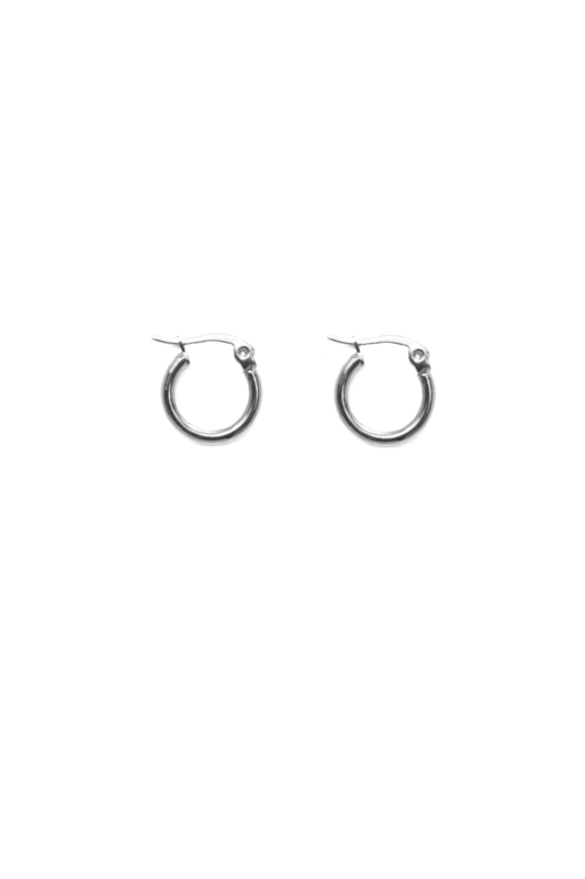 Silver basic hoops (15mm)