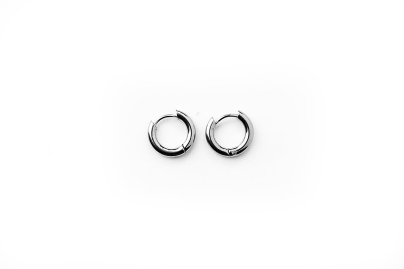 Silver basic hoops (10mm)