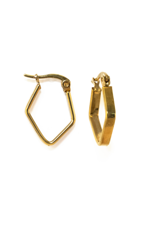 Golden triangle hoops