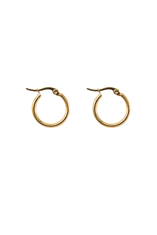 Golden basic hoops (20mm)