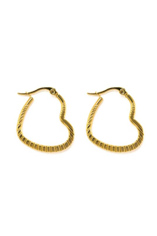 Golden heart hoops