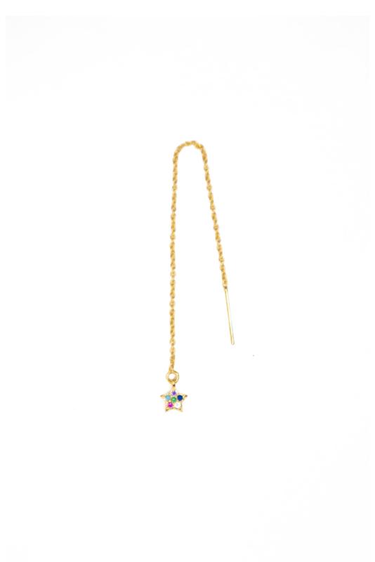 Golden long star chain