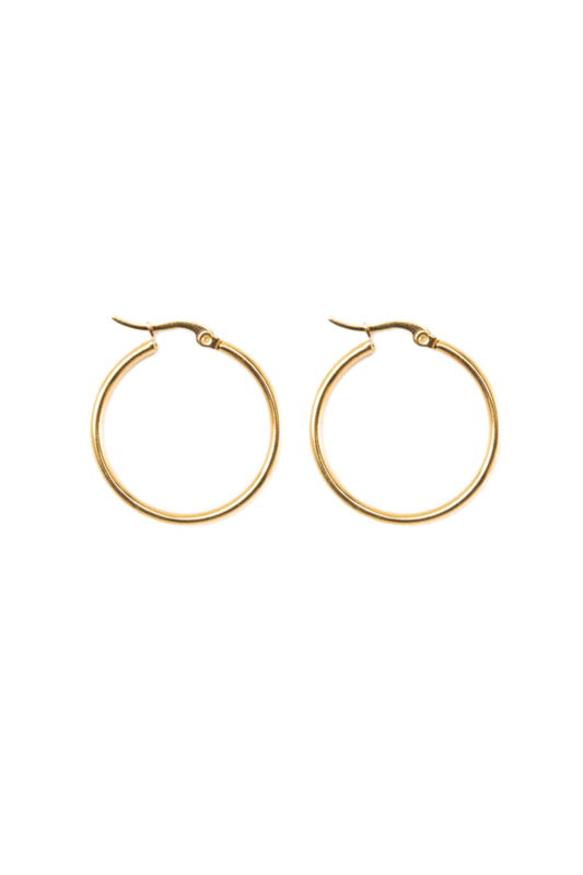 Golden basic hoops (30mm)