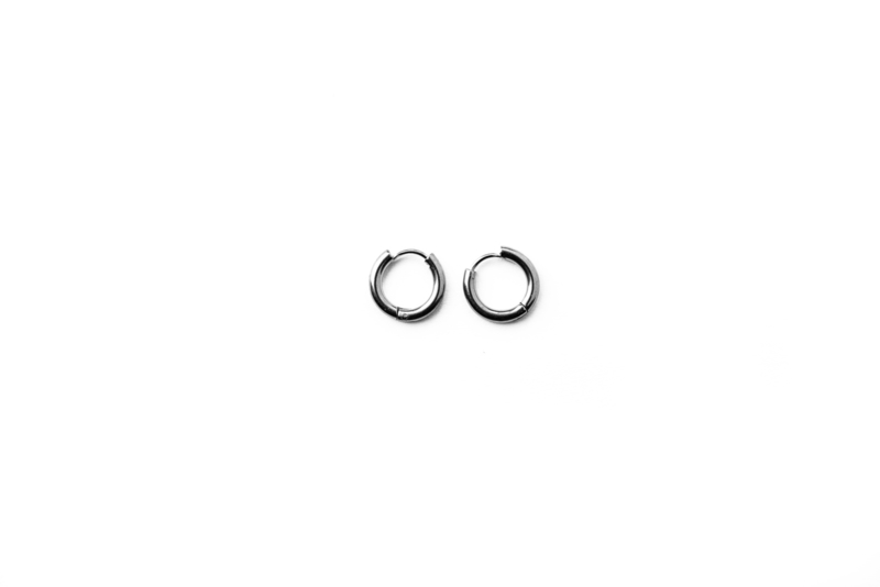 Silver basic hoops (8mm)