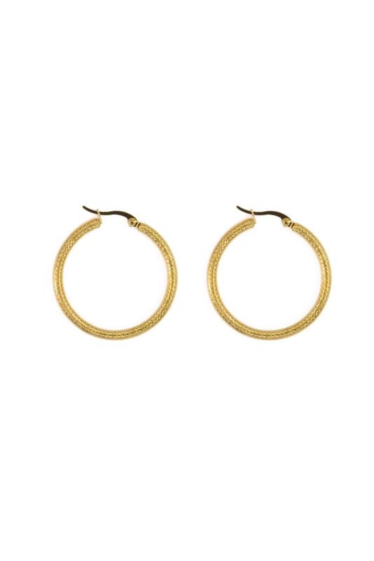Golden modern hoops (30mm)