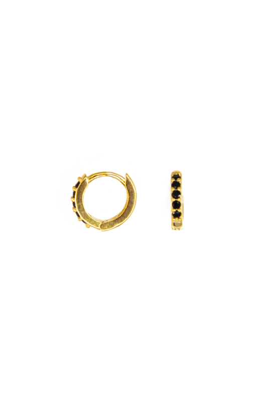 Golden little black beads